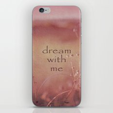 Dream With Me iPhone & iPod Skin