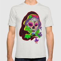 Darlin' Of The Dead Mens Fitted Tee Silver SMALL
