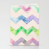 California Style Chevron Stationery Cards