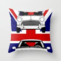 Mini, New And Old Throw Pillow