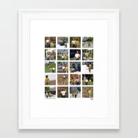The Adventure People on Vacation Framed Art Print