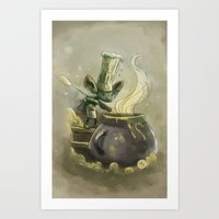 Goblins Drool, Fairies Rule! - Earwax Stew Art Print