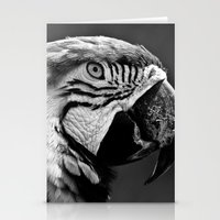 Black & White Parrot  Stationery Cards
