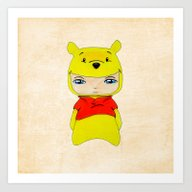 Art Print featuring A Boy - Winnie-the-Pooh by Christophe Chiozzi