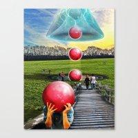 Interspatial Field Canvas Print