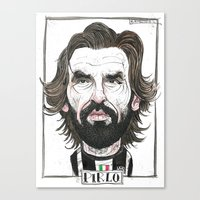 Canvas Print featuring ANDREA PIRLO by BANDY