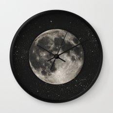 The Moon  [Sans Type] Wall Clock