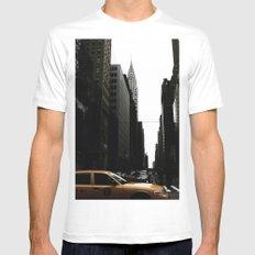 New York Street - Chrysler Building SMALL White Mens Fitted Tee