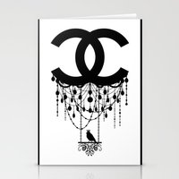 Coco Chandelier Stationery Cards