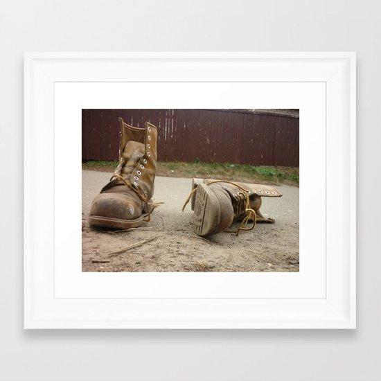 Road Framed Art Print