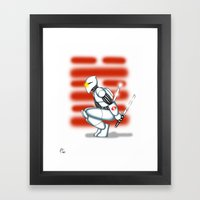 Robot Series - Storm Shadow Model Framed Art Print