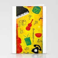 Music and Noise Stationery Cards