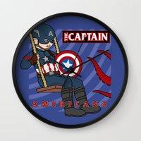 Captain Americana Wall Clock