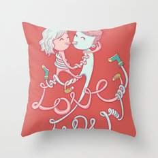 intertwined love Throw Pillow