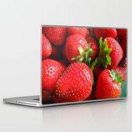 Abstract Strawberry Art Laptop & iPad Skin