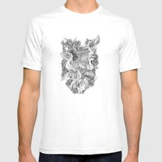 The Six Swans White SMALL Mens Fitted Tee