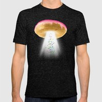 Unidentified Frying Object Mens Fitted Tee Tri-Black SMALL