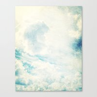 Somewhere | Beautiful Fluffy Clouds  Canvas Print