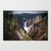 Lower Falls on the Yellowstone Canvas Print