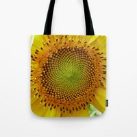 Journey to the Center of the Sunflower Tote Bag