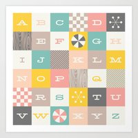 Block Alphabet - In Carn… Art Print