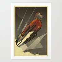 star Art Prints featuring The Star-Lord by The Art of Danny Haas