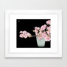 Heavenly Blossom on Black Framed Art Print
