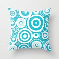 Soft Blue Circles Throw Pillow
