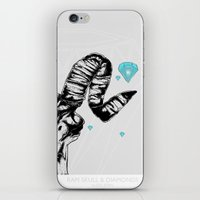 Ram Skull And Diamonds iPhone & iPod Skin