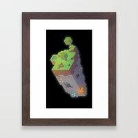 Minecraft Trixel Framed Art Print