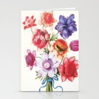XI. Vintage Flowers Bota… Stationery Cards
