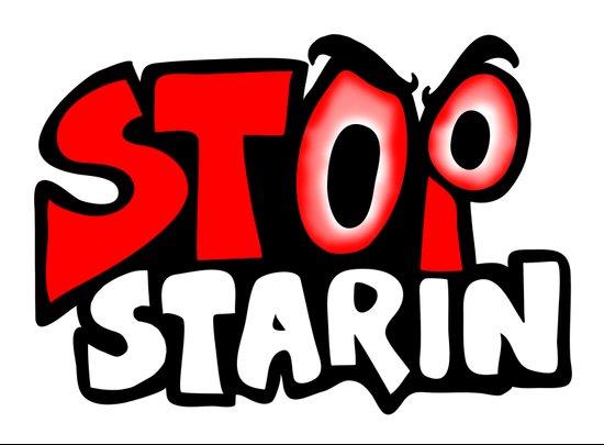 stop starin Art Print