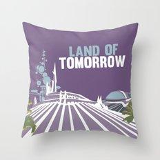 land of tomorrow Throw Pillow