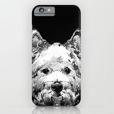 Black And White West Highland Terrier Dog Art Sharon Cummings iPhone 6 Slim Case