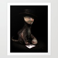 Charles the cat Art Print