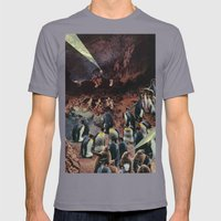 PENGUINS WITH POWERS Mens Fitted Tee Slate SMALL