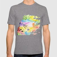 My Rainbow Totoro Mens Fitted Tee Tri-Grey SMALL