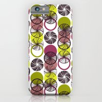 iPhone & iPod Case featuring Black Border Abstract Circles by Mel Smith Designs...