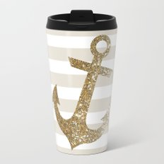 GLITTER ANCHOR IN GOLD Travel Mug