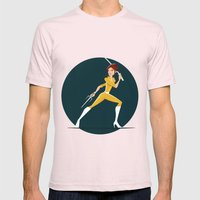 April Attacks! Mens Fitted Tee Light Pink SMALL
