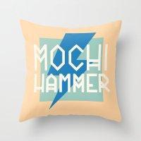 Mochi Hammer Throw Pillow