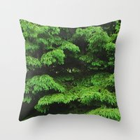 Greenery I Throw Pillow