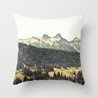 Epic Drive through the Mountains Throw Pillow