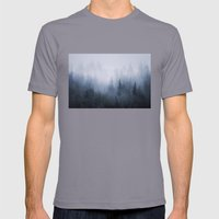 Misty Fantasy Forest. Mens Fitted Tee Slate SMALL