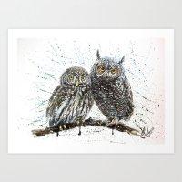 little owl's Art Print