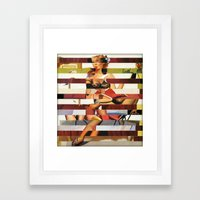 Glitch Pin-Up Redux: Bri… Framed Art Print