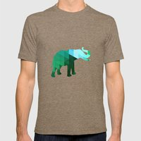 Emerald Elephant Mens Fitted Tee Tri-Coffee SMALL