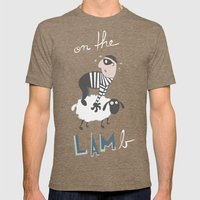 On The LAMb Mens Fitted Tee Tri-Coffee SMALL