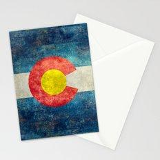 Colorado State Flag Vintage Grunge Stationery Cards