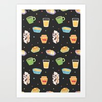 Yummy Breakfast Art Print